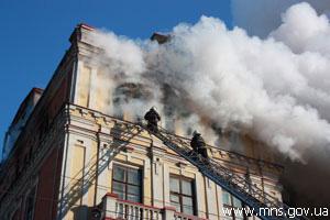 У Луганську загорілася 113-річна поліклініка