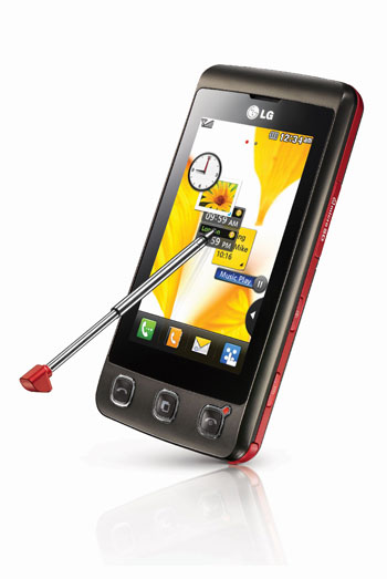 LG выпустил новый сенсорный телефон