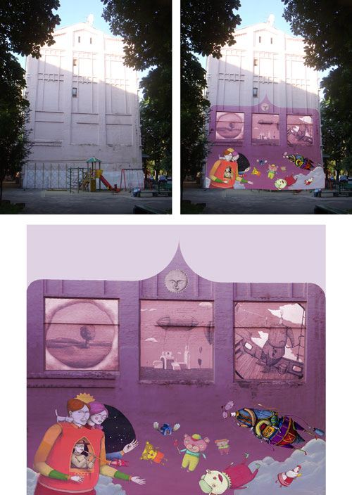 Київські будинки розмалюють графіті
