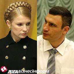 Опитування: Кияни підтримують Кличка і Тимошенко