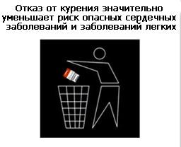 На пачках сигарет появятся предупреждающие рисунки