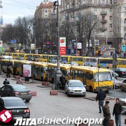 Киевляне не поддержали забастовку маршрутчиков